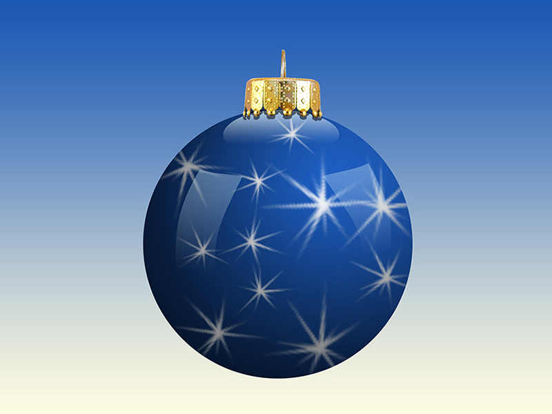 b2bcards corporate christmas eacrd ref:b2b-ecards-baubles-stars-blue-611.jpg, Baubles,Stars, Blue