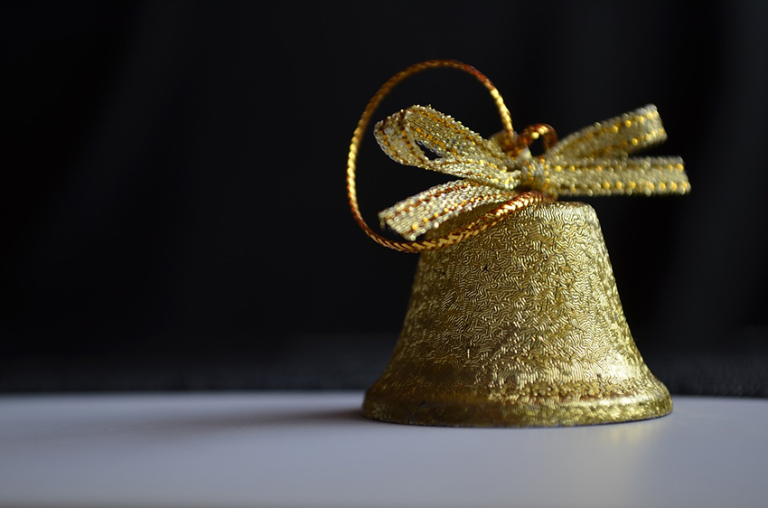 b2bcards corporate christmas eacrd ref:b2b-ecards-bells-gold-902.jpg, Bells, Gold