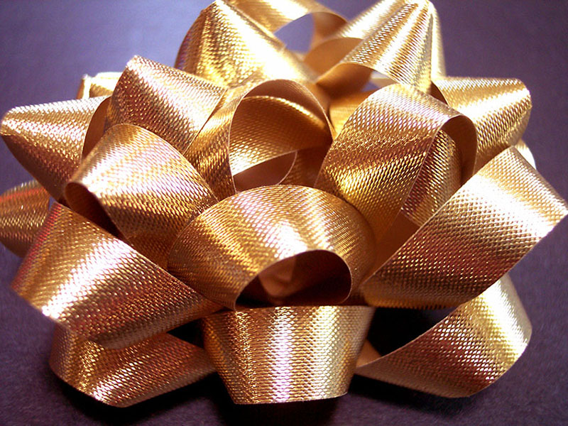 b2bcards corporate christmas eacrd ref:b2b-ecards-bows-gold-361.jpg, Bows, Gold