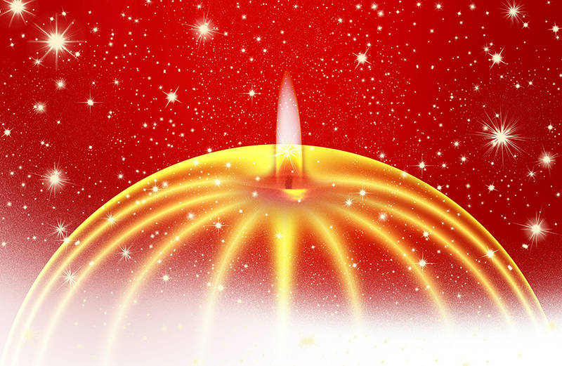 b2bcards corporate christmas eacrd ref:b2b-ecards-candles-red-gold-733.jpg, Candles, Red,Gold