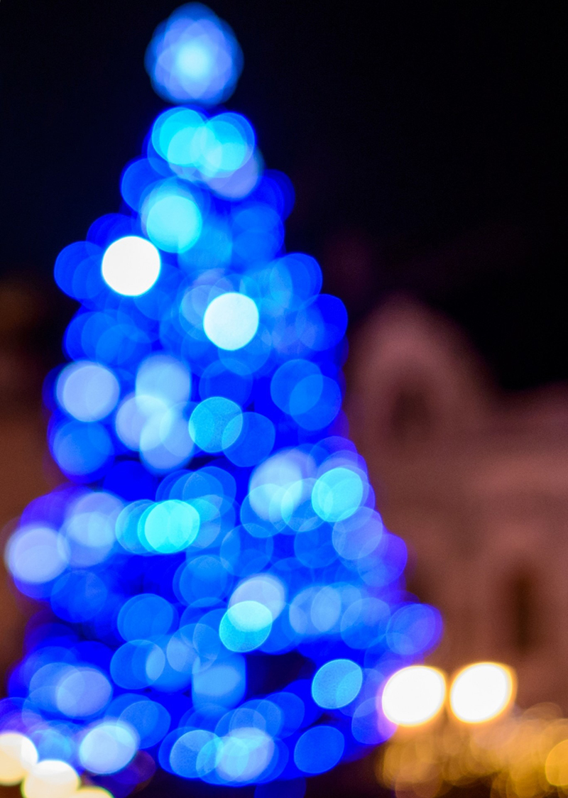 b2bcards corporate christmas eacrd ref:b2b-ecards-christmas-tree-abstract-blue-741.jpg, Christmas Tree,Abstract, Blue