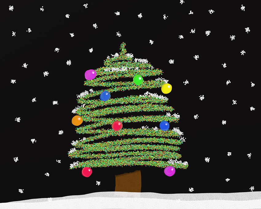 b2bcards corporate christmas eacrd ref:b2b-ecards-christmas-tree-colours-906.jpg, Christmas Tree, Colours