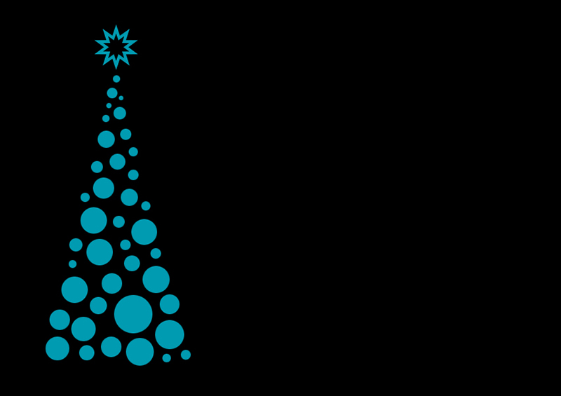b2bcards corporate christmas eacrd ref:b2b-ecards-christmas-tree-contemporary-black-teal-375.jpg, Christmas Tree,Contemporary, Black,Teal