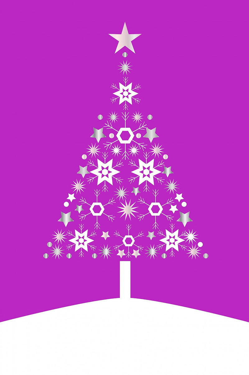 b2bcards corporate christmas eacrd ref:b2b-ecards-christmas-tree-contemporary-pink-493.jpg, Christmas Tree,Contemporary, Pink