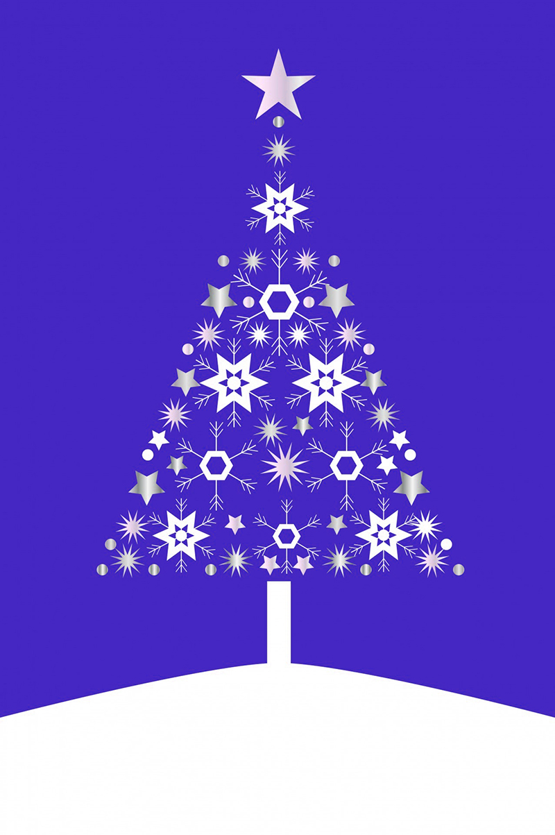 b2bcards corporate christmas eacrd ref:b2b-ecards-christmas-tree-contemporary-purple-491.jpg, Christmas Tree,Contemporary, Purple
