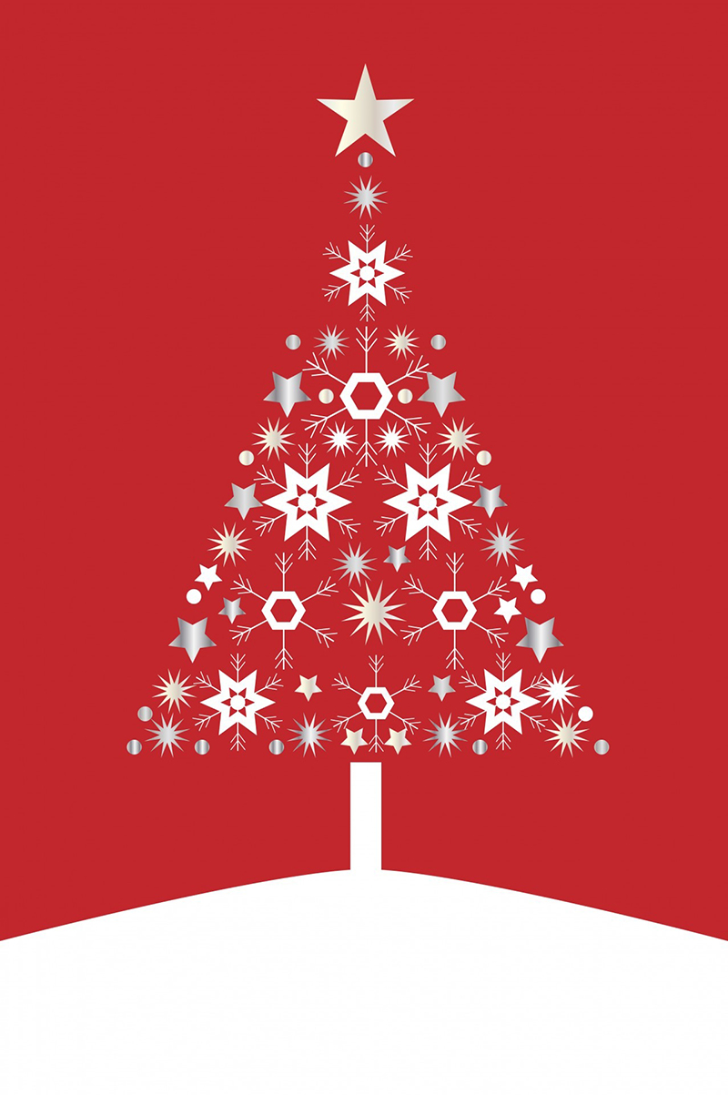 b2bcards corporate christmas eacrd ref:b2b-ecards-christmas-tree-contemporary-red-487.jpg, Christmas Tree,Contemporary, Red