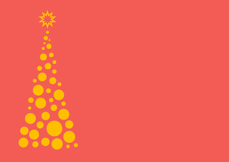 b2bcards corporate christmas eacrd ref:b2b-ecards-christmas-tree-contemporary-salmon-orange-372.jpg, Christmas Tree,Contemporary, Salmon,Orange