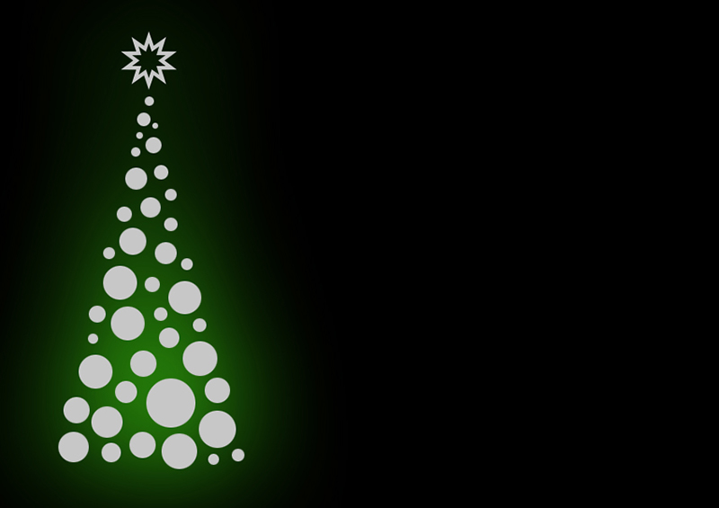 b2bcards corporate christmas eacrd ref:b2b-ecards-christmas-tree-contemporary-silver-green-379.jpg, Christmas Tree,Contemporary, Silver,Green