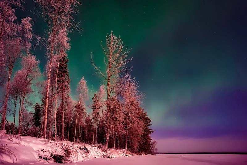 b2bcards corporate christmas eacrd ref:b2b-ecards-northern-lights-scenery-colours-1007.jpg, Northern Lights,Scenery, Colours