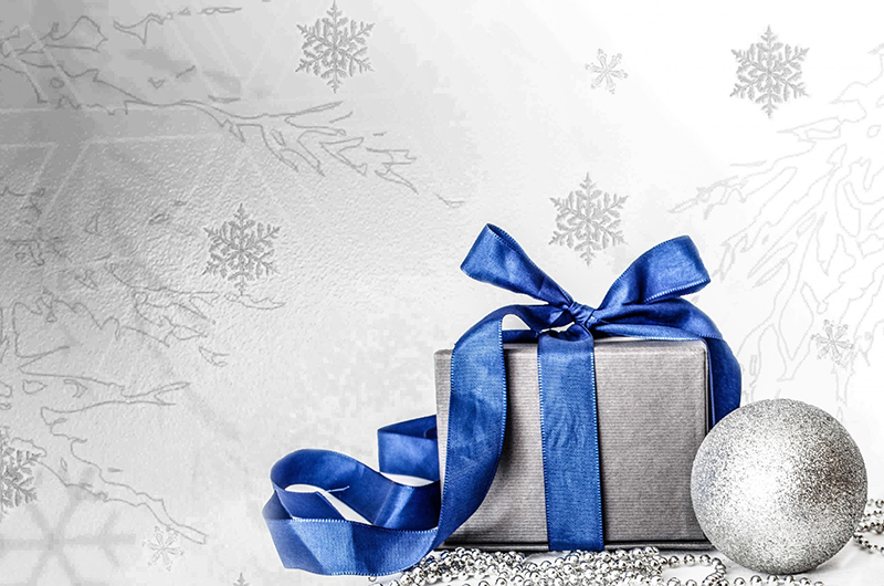 b2bcards corporate christmas eacrd ref:b2b-ecards-presents-blue-silver-564.jpg, Presents, Blue,Silver