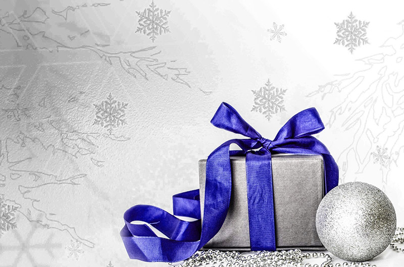 b2bcards corporate christmas eacrd ref:b2b-ecards-presents-blue-silver-565.jpg, Presents, Blue,Silver