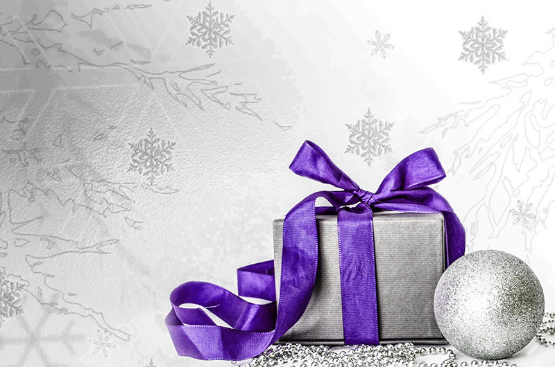 b2bcards corporate christmas eacrd ref:b2b-ecards-presents-purple-silver-566.jpg, Presents, Purple,Silver
