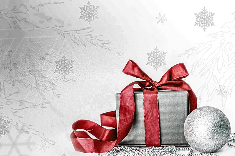b2bcards corporate christmas eacrd ref:b2b-ecards-presents-red-silver-568.jpg, Presents, Red,Silver