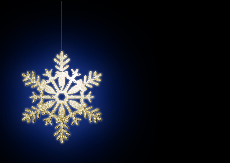 b2bcards corporate christmas eacrd ref:b2b-ecards-snowflakes-gold-blue-331.jpg, Snowflakes, Gold,Blue