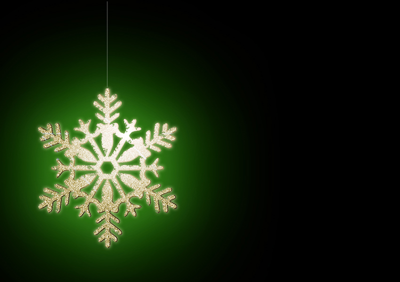 b2bcards corporate christmas eacrd ref:b2b-ecards-snowflakes-gold-green-322.jpg, Snowflakes, Gold,Green