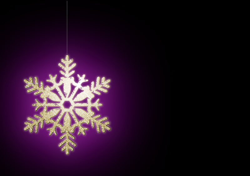 b2bcards corporate christmas eacrd ref:b2b-ecards-snowflakes-gold-purple-black-327.jpg, Snowflakes, Gold,Purple,Black