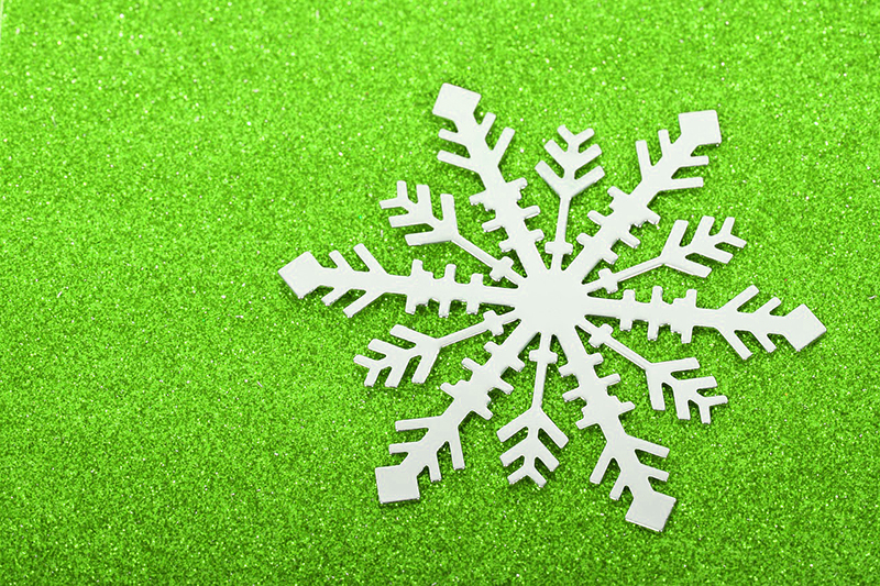 b2bcards corporate christmas eacrd ref:b2b-ecards-snowflakes-green-500.jpg, Snowflakes, Green