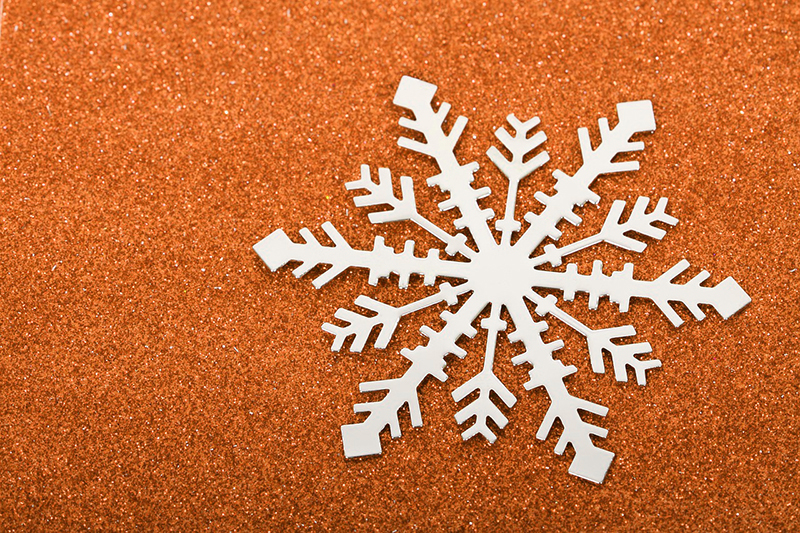 b2bcards corporate christmas eacrd ref:b2b-ecards-snowflakes-orange-498.jpg, Snowflakes, Orange