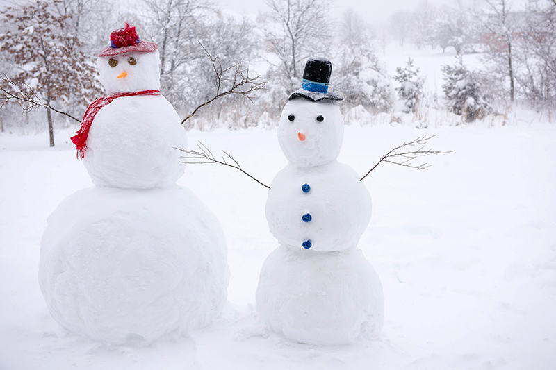b2bcards corporate christmas eacrd ref:b2bcards-snowman-mr-mrs.jpg, Snowman,Mr and Mrs,Snow, White